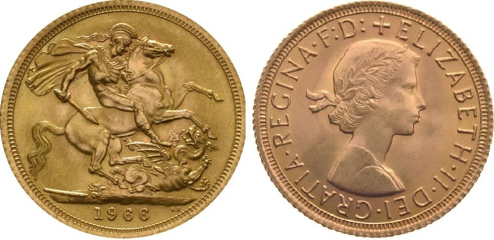 Sterlina d'Oro 1966 Fiocco